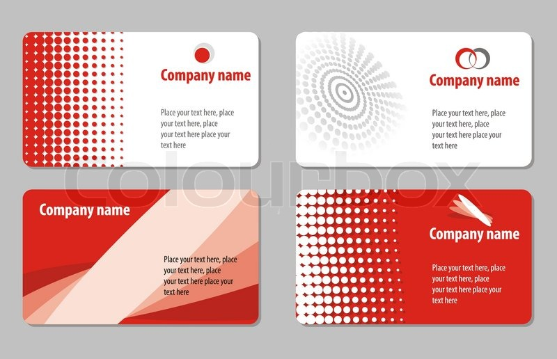 Business card template collection stock vector colourbox business card template collection vector reheart Gallery