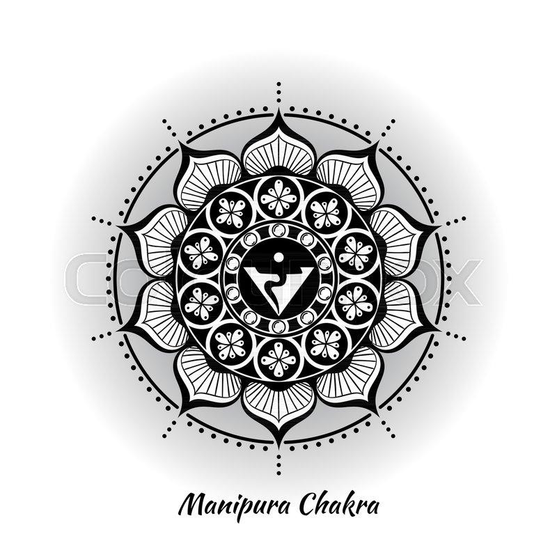 Manipura Chakra Symbol Used In Hinduism Buddhism Ayurveda The