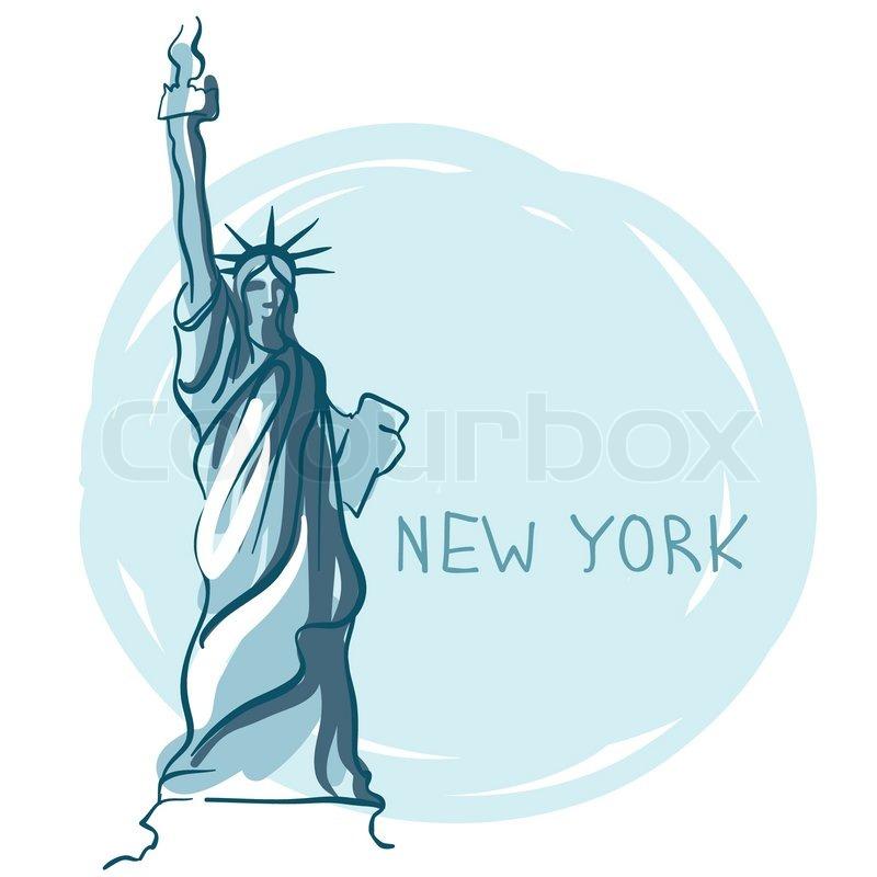 Statue of Liberty , New York , USA   Vektorgrafik   Colourbox