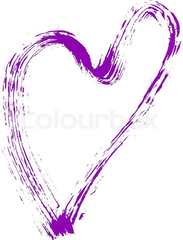 Heart Shape Design For Love Symbols Hand Drawn Grunge Texture