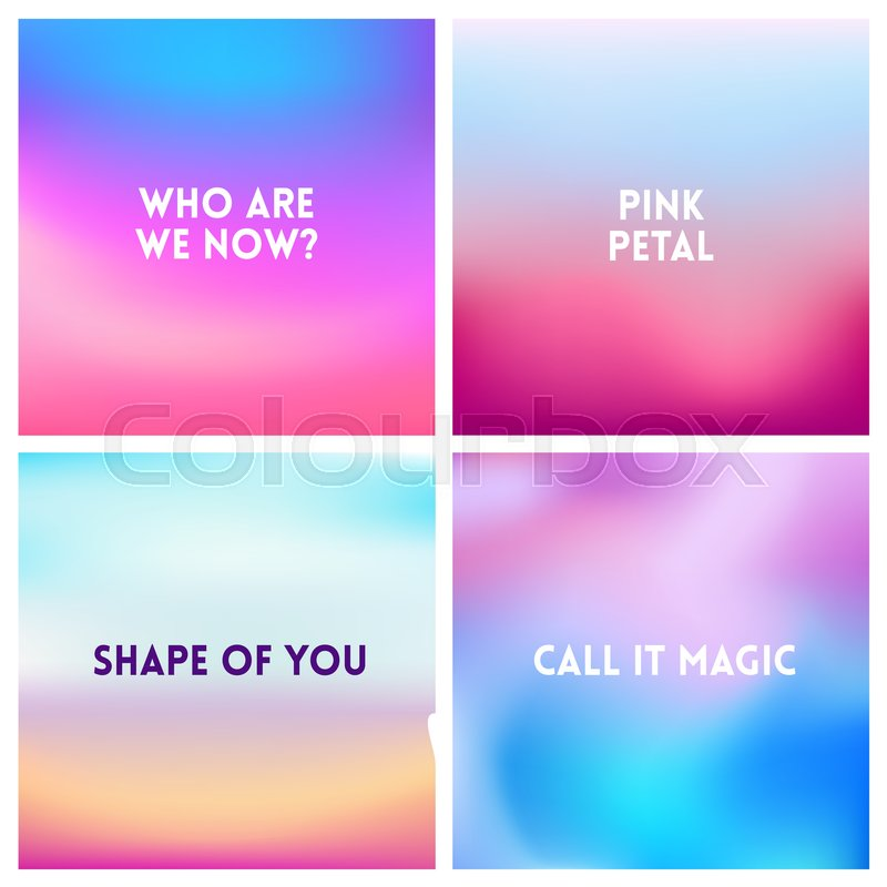 Abstract Vector Pink Blue Blurred Stock Vector Colourbox