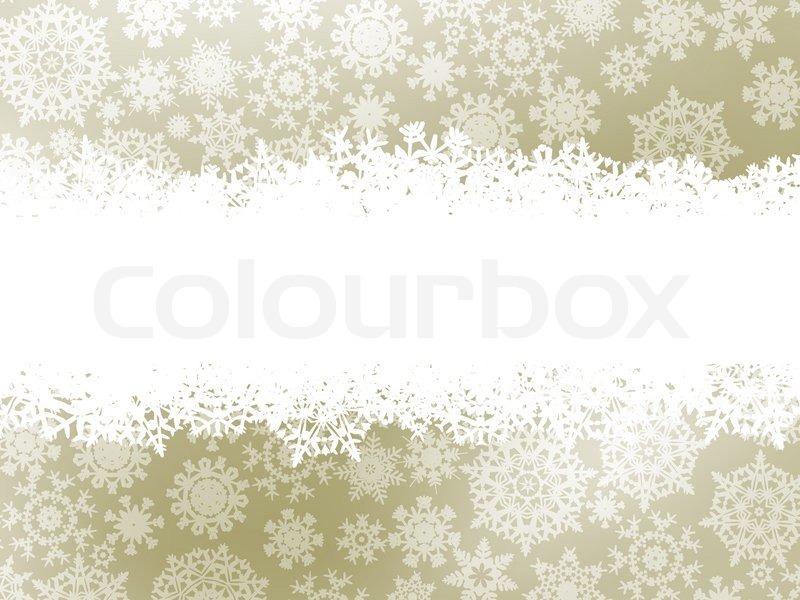 Elegant Christmas Background With Snowflakes Stock Vector: Snowflake Christmas Elegant Background With White Snow