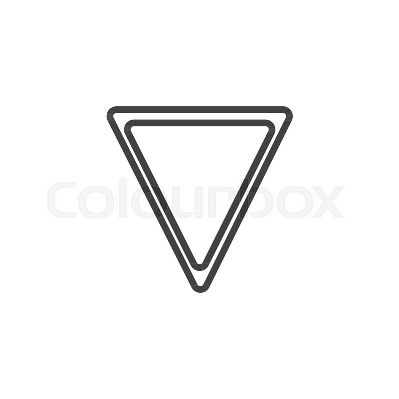 Yield Triangle Signs Line Icon Outline Vector Sign Linear Style