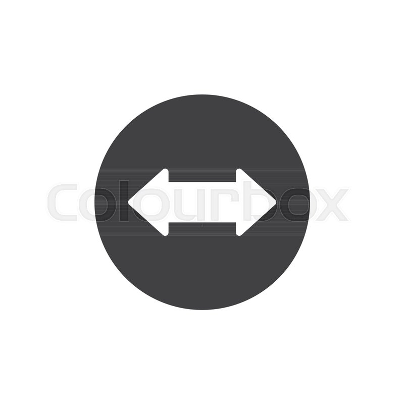 Left And Right Arrow Icon Vector Filled Flat Sign Solid Pictogram