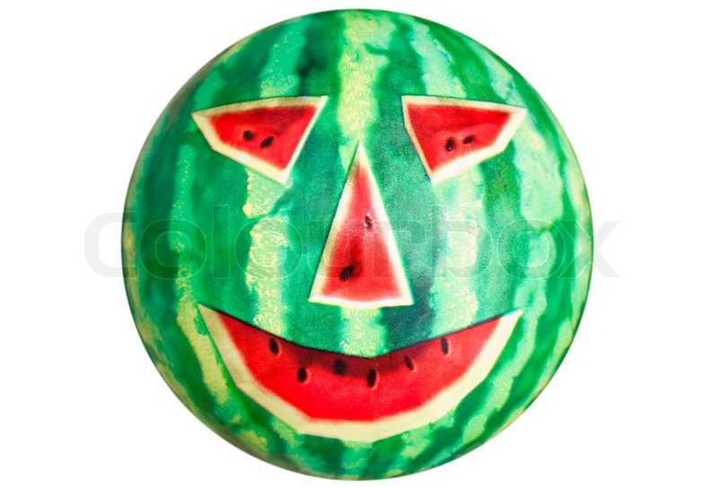 watermelon in face video