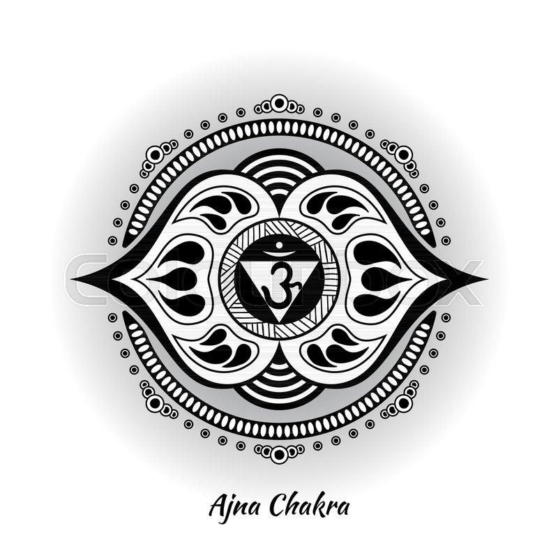 Ajna Chakra Symbol Used In Hinduism Buddhism Ayurveda The Root