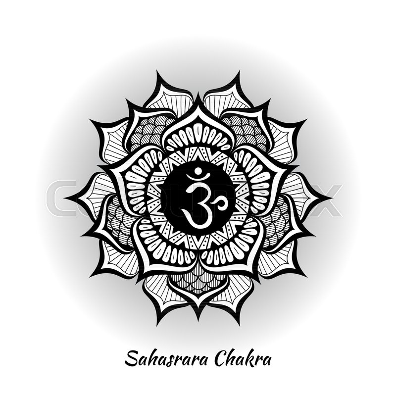 Sahasrara Chakra Symbol Used In Hinduism Buddhism Ayurveda The
