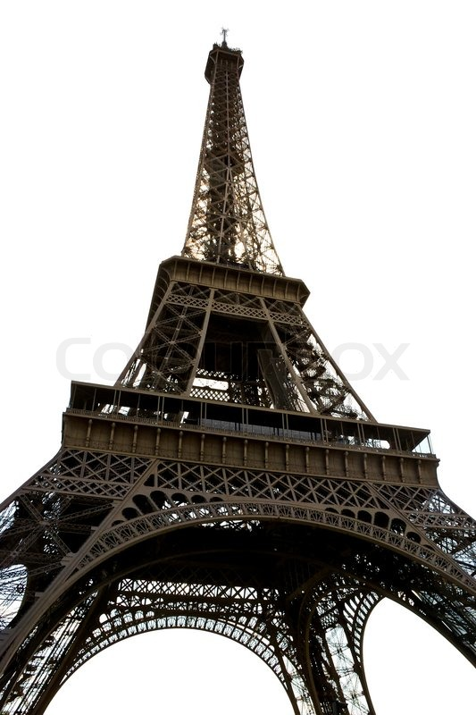 Delightful Eiffel Tower Isolated On A White Background Stock Photo Colourbox