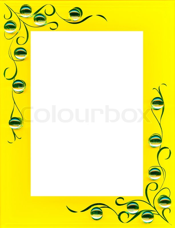yellow frame with space for photo stock photo colourbox - Yellow Frame
