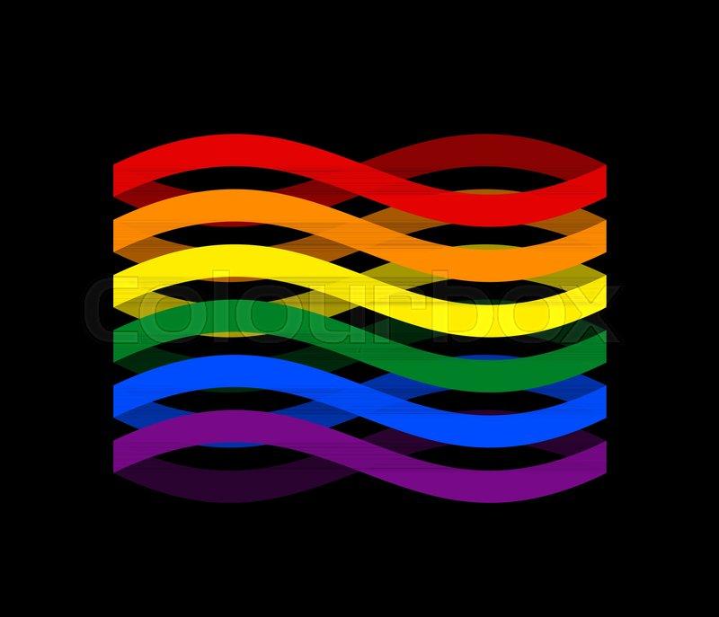 Lgbtq Flag Ribbon Isolated Pride Lgbt Symbol Tape Gay Rainbow