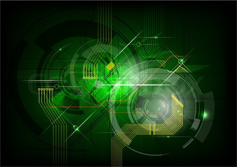 abstract electric on the green background stock vector colourbox