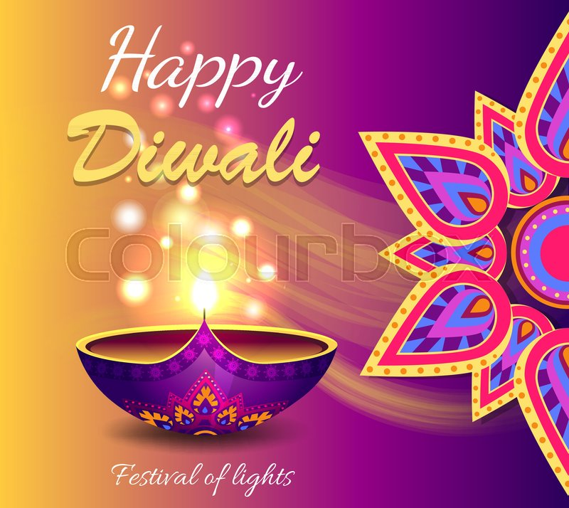 Happy Diwali Festival Of Lights Promotional Poster Depicting