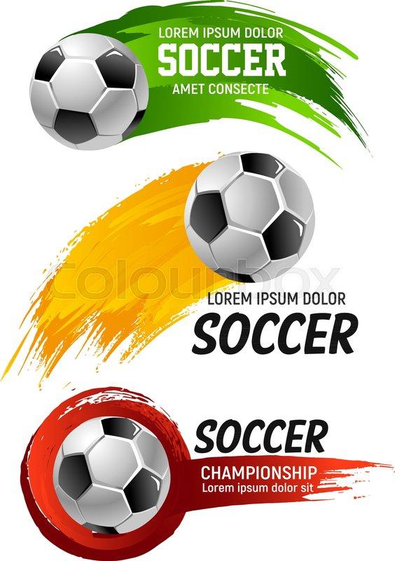 Soccer Game Championship Ball Icon Or Stock Vector Colourbox