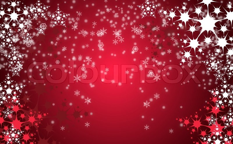 red christmas background with white snow flakes stock photo colourbox - Red Christmas Background