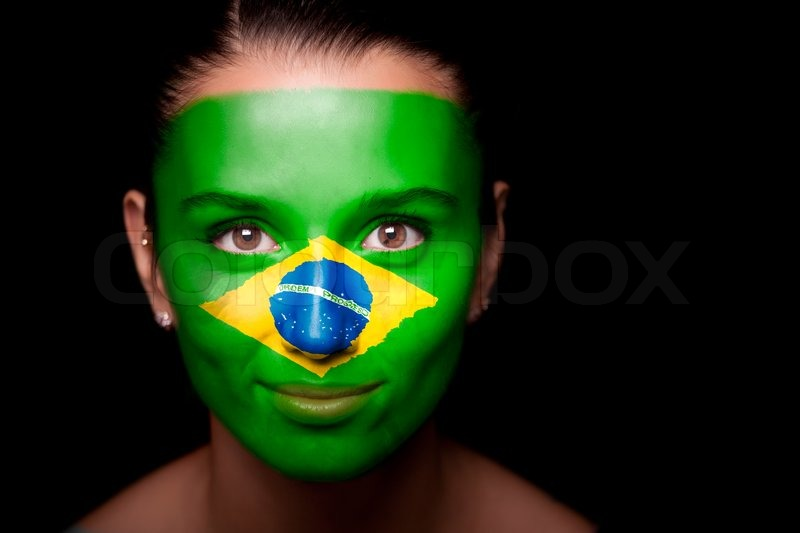 Brazil Flag Face Paint