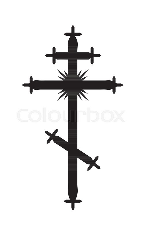The Greek Catholic Orthodox Eight Pointed Cross Christian Symbol Of