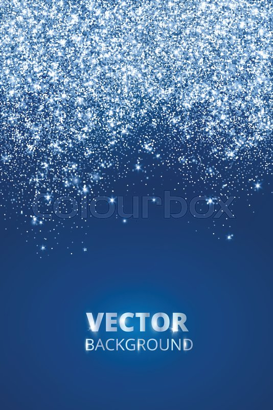 Falling Glitter Confetti Snow Vector Stock Vector