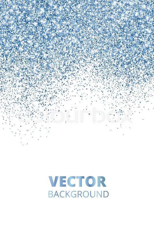 falling glitter confetti blue vector stock vector