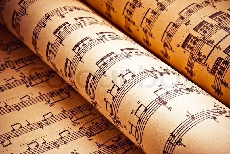Stock image of 'Music background of classical notes'