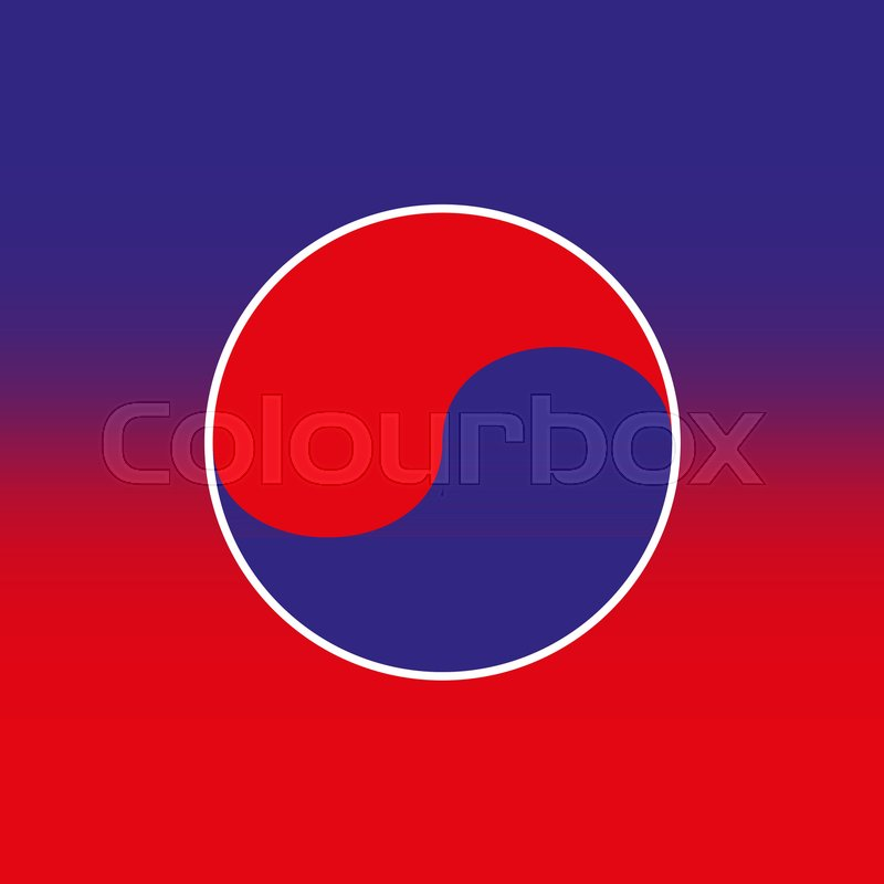 Vector Illustration Taekwondo Icon Red Blue Background Stock