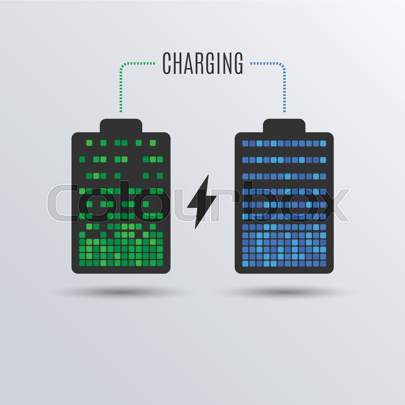 Cell Phone Or Smartphone Electric Charge Battery Energy Recharge