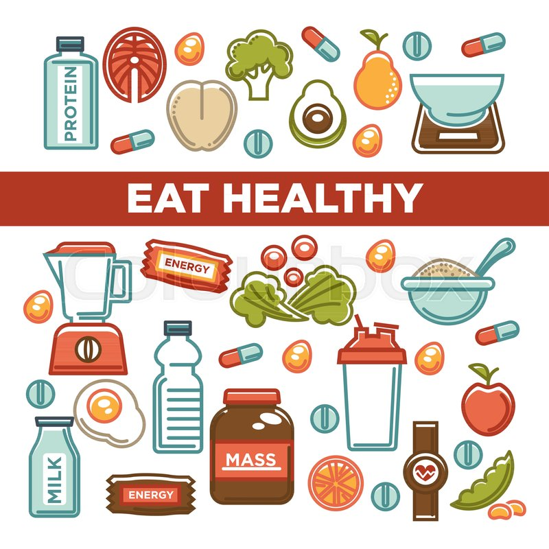 fitness food poster of sports healthy diet food nutrition poster