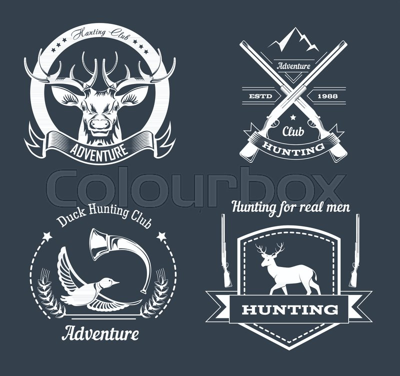 Hunting Club Or Hunt Adventure Logo Stock Vector
