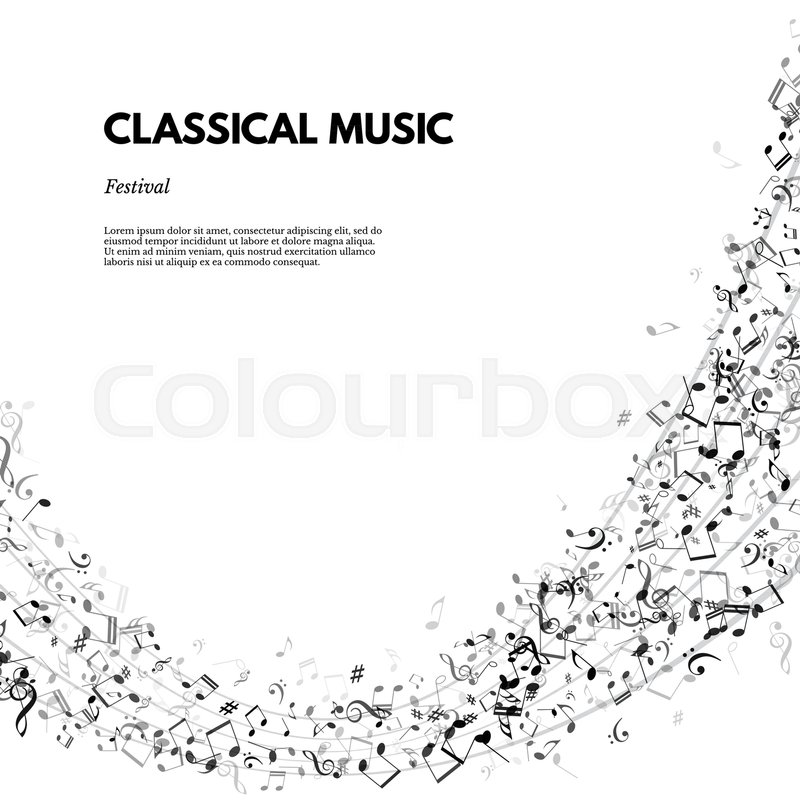 Classical Music Festival Poster Or Banner Template Vector Classical