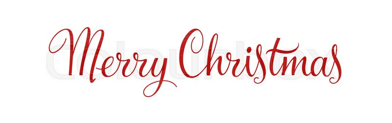 merry christmas vintage calligraphy vector text and xmas holiday celebration greeting card design horizontal red banner and poster with lettering
