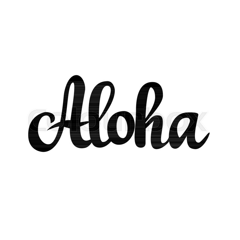 Aloha hawaiian greeting vector calligraphy design word stock aloha hawaiian greeting vector calligraphy design word stock vector colourbox m4hsunfo