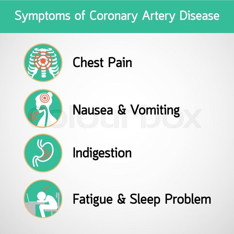 Symptoms of Coronary Artery Disease       Stock vector