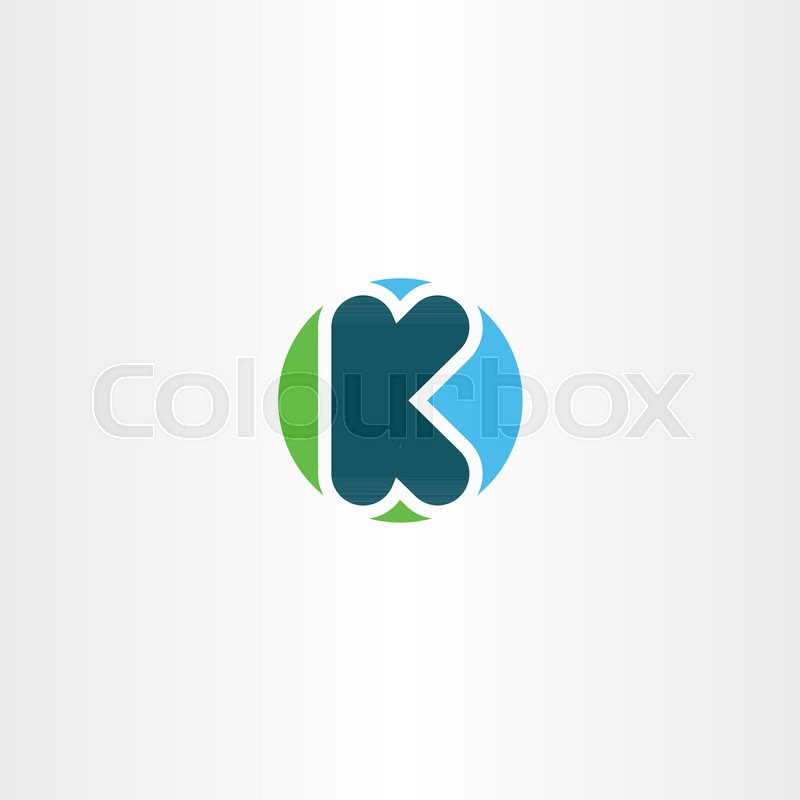 Circle K Logotype Icon Symbol Element Letter Design Stock Vector