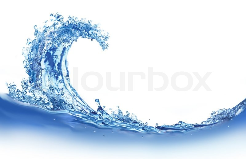 Illustration Of Cool Water Wave On Stock Photo Colourbox
