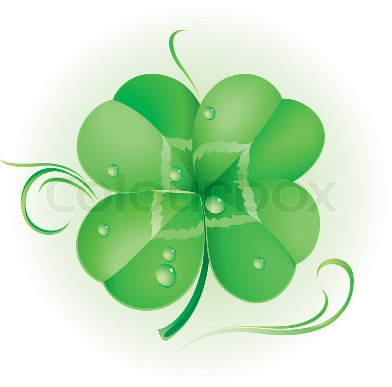 Irish shamrock for st patrick 39 s day stock vector colourbox for Irish mail cart plans