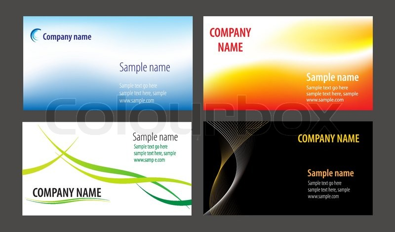 Visitenkarten Vorlagen Sammlung Stock Vektor Colourbox