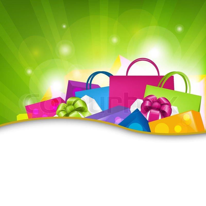 Bright Shopping Background Vector Illustration Stock