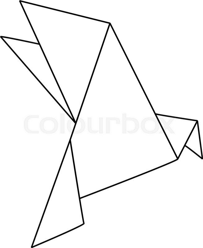 Origami Bird Stock Vector Colourbox
