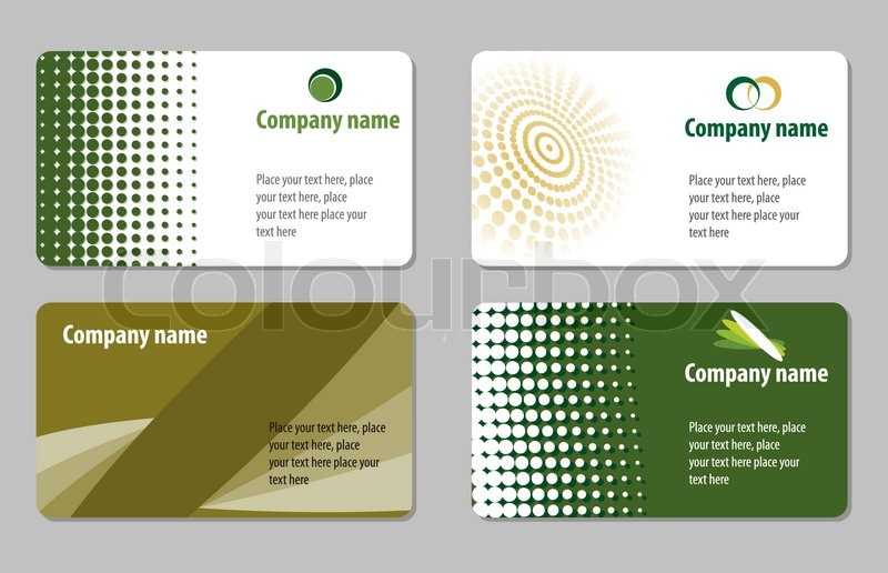 Green business cards templates collections stock vector colourbox wajeb Gallery