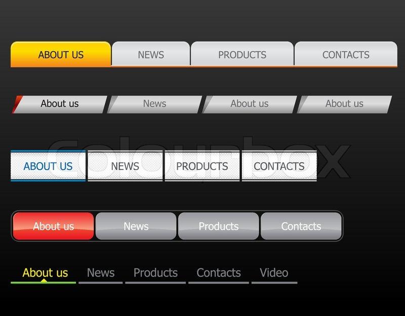 navigation bar templates stock vector colourbox