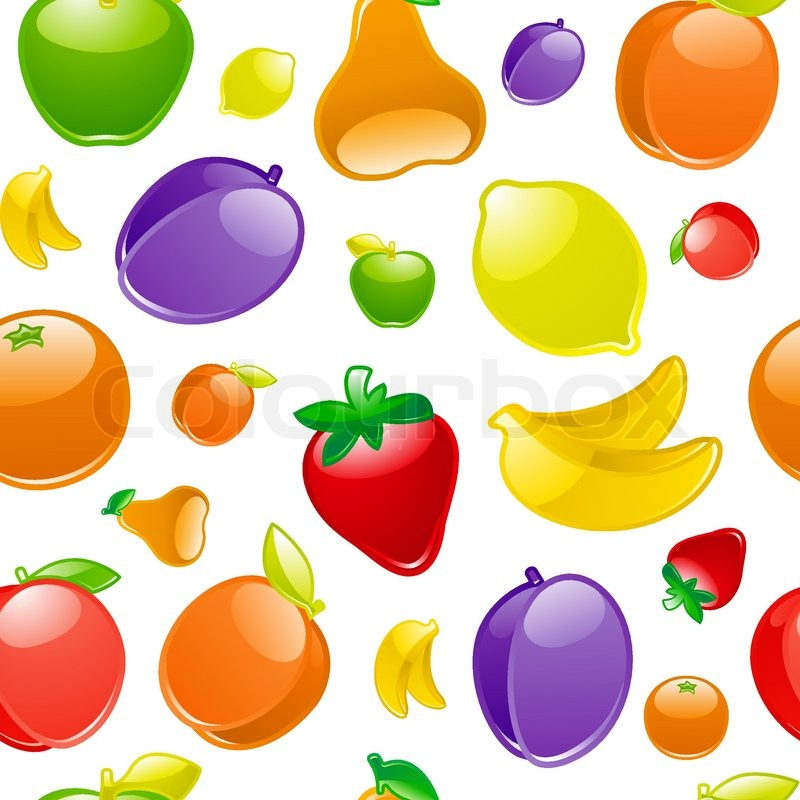 Stock vector of 'Fruit to background, seamless'