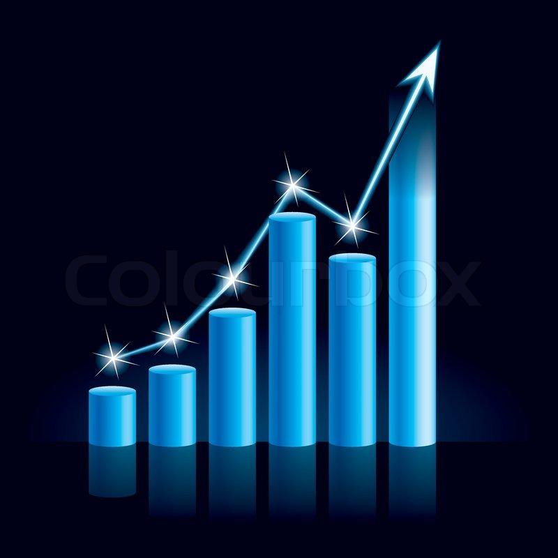 illustration of growing bull trend chart stock vector. Black Bedroom Furniture Sets. Home Design Ideas