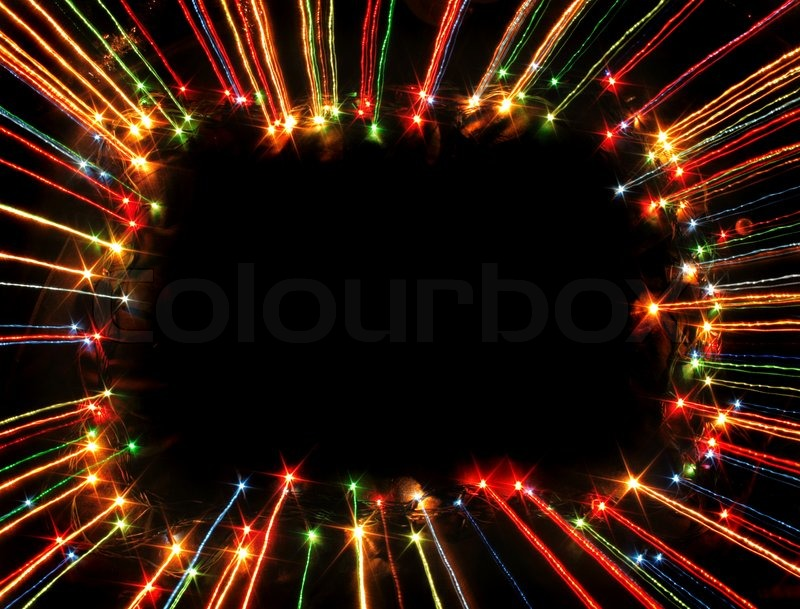 Nice xmas frame from the color lights | Stock Photo | Colourbox