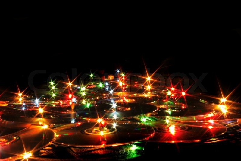 Nice xmas background from the color lights | Stock Photo | Colourbox