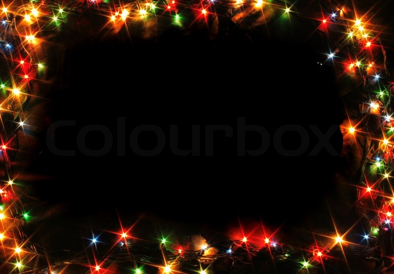xmas music frame from the color lights stock photo colourbox