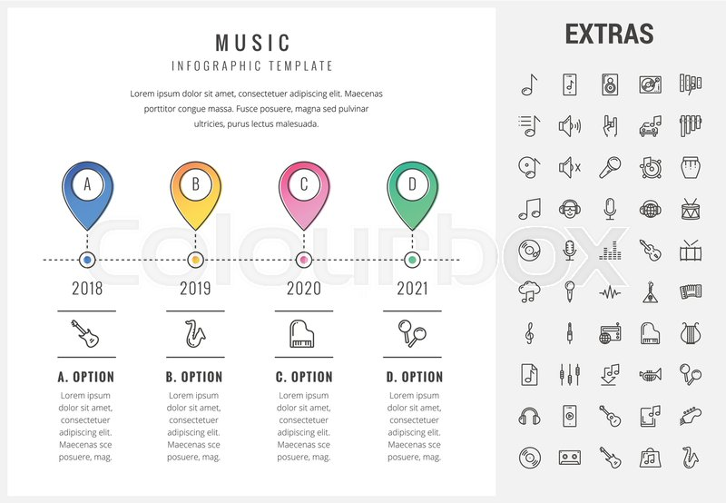 Music Timeline Infographic Template Elements And Icons Infograph