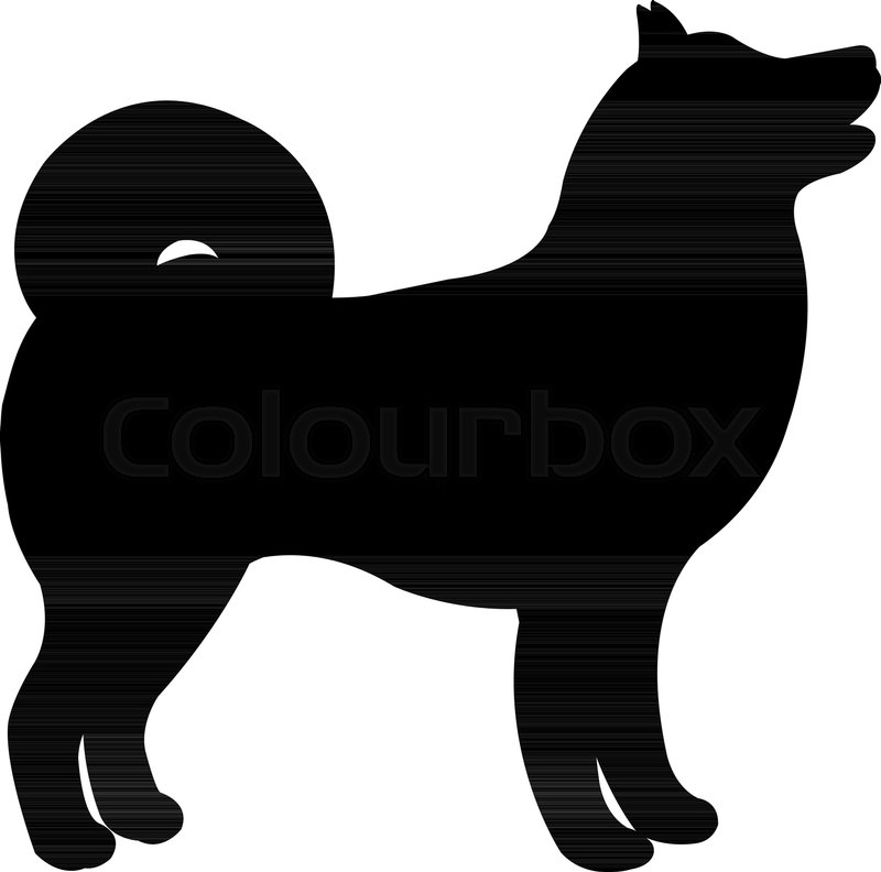 black dog silhouette vector illustration stock vector colourbox rh colourbox com dog silhouette vector free download dog cat silhouette vector free