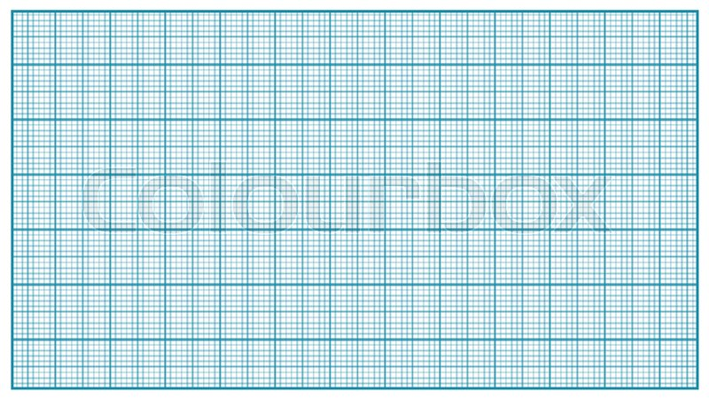 millimeter paper vector blue graphing paper for education drawing