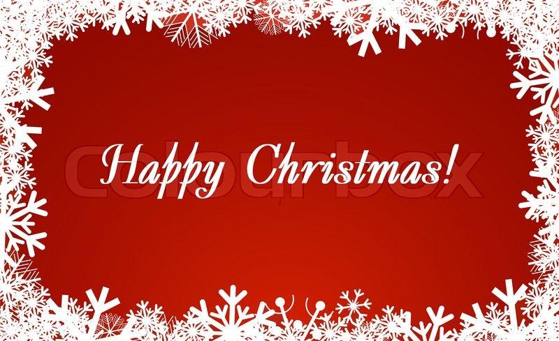Christmas and New Year\'s framework | Stock Vector | Colourbox
