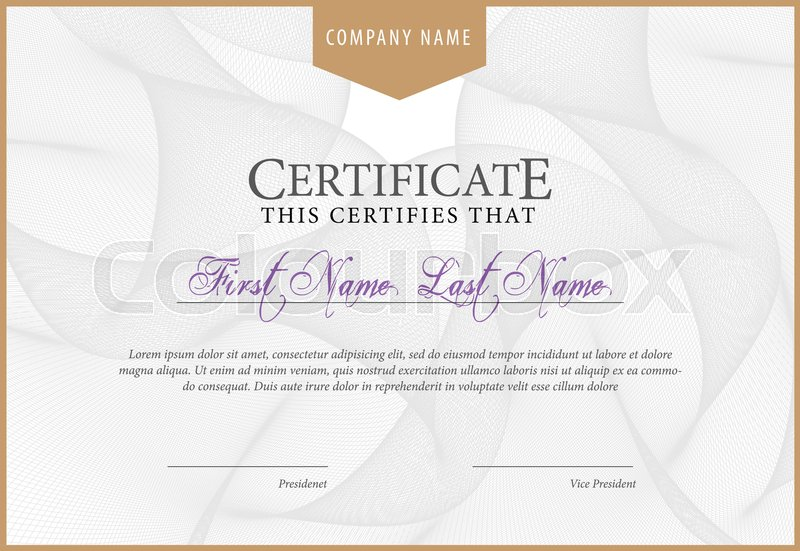 Certificate template diploma currency border award background gift certificate template diploma currency border award background gift voucher vector illustration vector yelopaper Gallery