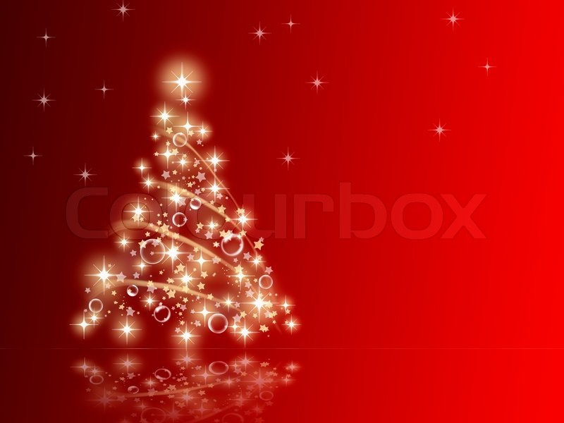 red christmas tree background - photo #36